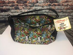 f079b525e39 Ed Hardy Promotional Travel Tote Bag True to My Love All Over Women ...