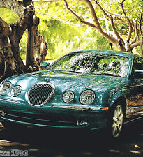 Big 2001 JAGUAR S-TYPE Brochure / Catalog w/ Color Chart; 3.0, 4.0, AJ