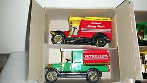 Collector's Set Classic Trucks Model T Water Wagon Tanker Ambulance Delivery Van