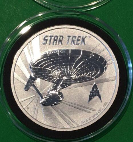 Star Trek Collectible Coin Tokelau 2016 Round 1 Troy Oz .999 Fine Silver Trekkie