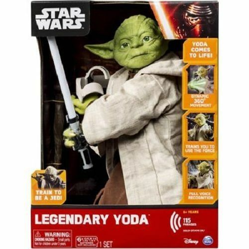 YODA Jedi Master Interactive Talking Legendary Star Wars Figure Light Sound NEW