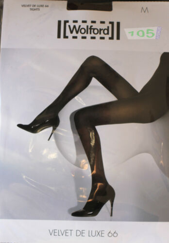 XS WOLFORD Velvet de Luxe 66 NEUF @@ COLLANT OPAQUE MAT SATINé coca