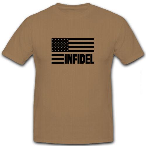 Infidel USA DRAPEAU drapeau mécréants Irak Iraq-T shirt #5748