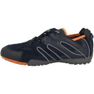 GEOX U Snake J Schuhe Herren Sneaker Halbschuhe navy orange U4207J02214C0820