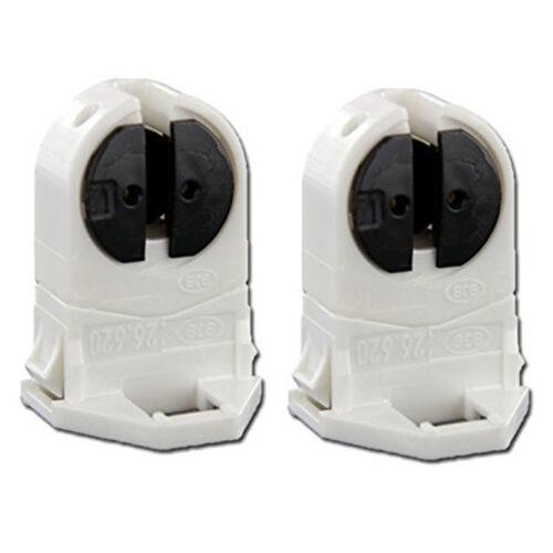 Packs of T5 Fluorescent /& LED Tube Tombstone Lamp Holders Snap-In /& Slide-On