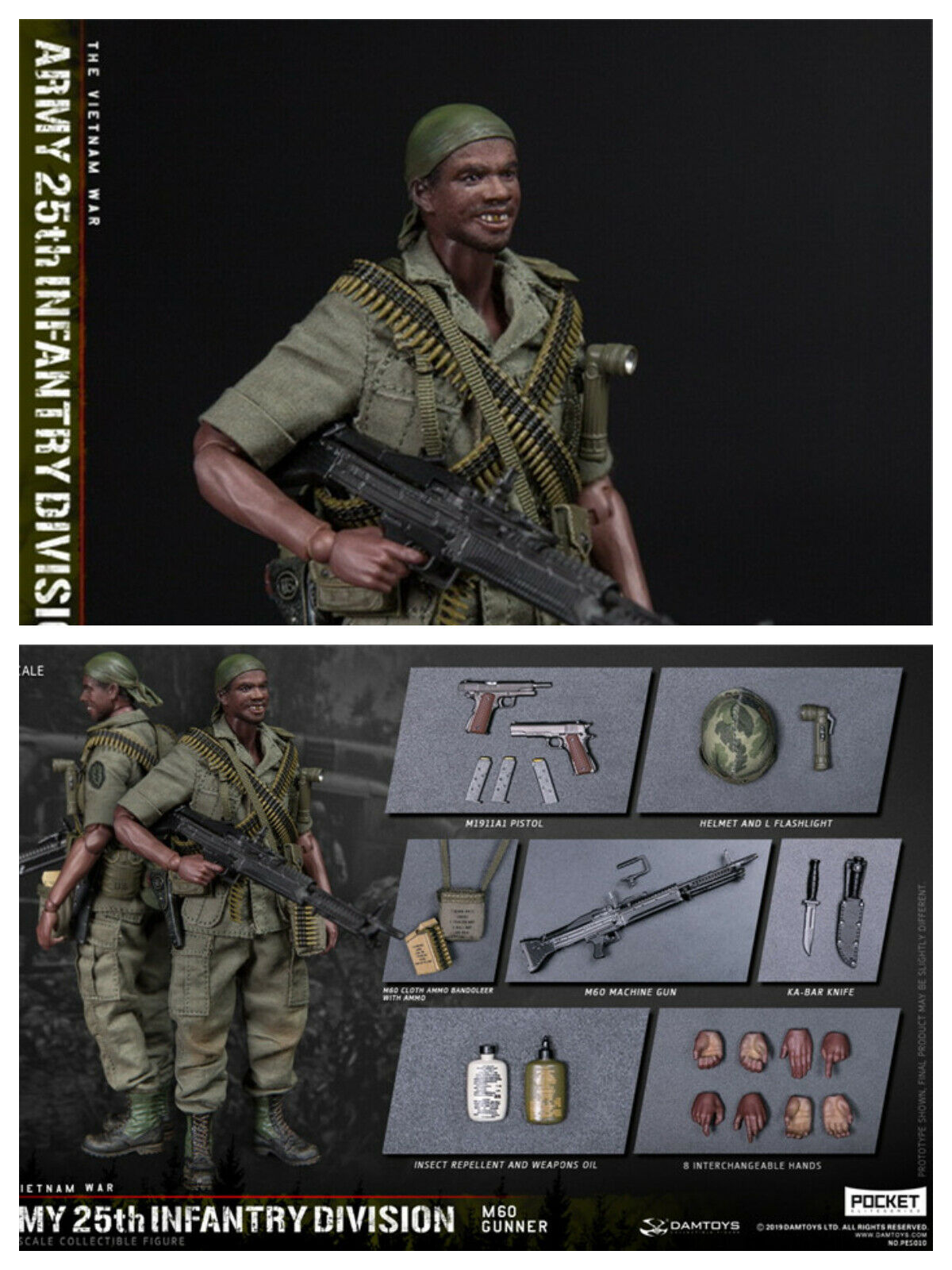 Pre-order 1 12 DAMTOYS nfantry Division Private SERGEANT PES010 Action Figure