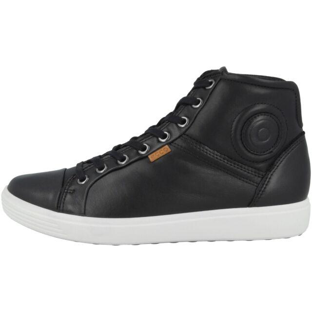 Ecco Soft 7 Mid Ladies Schuhe Damen Leder Halbschuhe High Top Sneaker Biom Soft