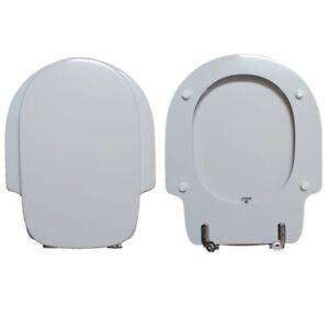 Sieges-de-Toilette-Cadore-G-S-I-Facis-Compatible-Laque-Blanc-Poli-Polyester