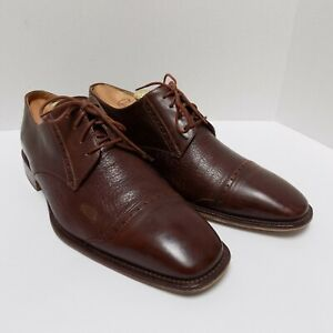 a121c05a97a0d Details about Mercanti Fiorentini 5834 Mens Captoe Oxfords Italy Brown  Leather Size 10M