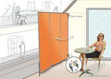 Hochwertiger Sichtschutz Paravent 3er Terracotta für Balkon Terasse Garten
