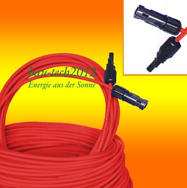 Solarkabel 6mm² rouge / noir / bleu MC4 Crampon monté au choix / PV Câble