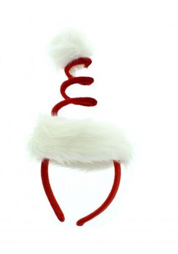 Ladies Deluxe Xmas Tree Spiral Spring Santa Christmas Hat Headband Fancy Dress