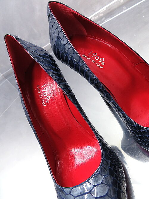 1969 Unique Farbe All Leder MADE Heels IN ITALY Sexy High Heels MADE Pumps K97 Leder 40 d57f6d