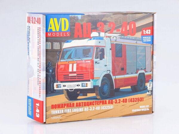 Kamaz 43253 AC 3,2-40 Camión De Bomberos Kit desarmado este cuadro modelos por SSM 1 43