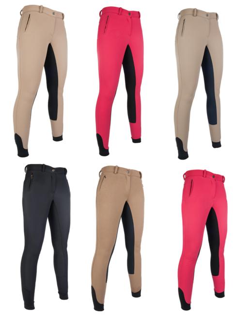 Damen Reithose Dakota Silikon-Vollbesatz Silikon-Vollbesatz Silikon-Vollbesatz versch. Farben HKM 34-46 NEU a75a10