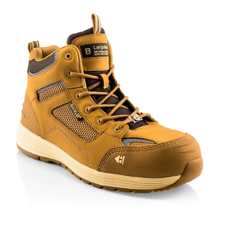 Buckler BAZ Safety Work Trainer Boots Tan Honey (Sizes 6-13) Men's Steel Toe Cap