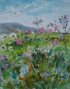 ORIGINAL-SIGNED-IMPRESSIONIST-Coverdale-Campion-Birds-OIL-PAINTING-CANVAS-Dales