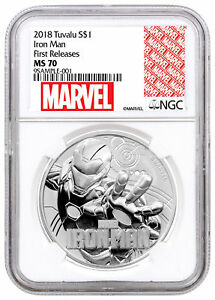2018-Tuvalu-Iron-Man-1-oz-Silver-Marvel-Srs-1-Coin-NGC-MS70-FR-SKU53475