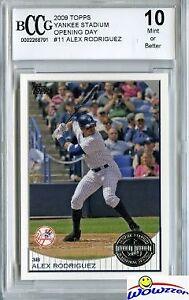 2009 Topps Yankee Stadium OD #11 Alex Rodriguez BECKETT 10 MINT Yankees