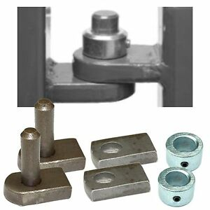 Weld On Gate Hinge Set 12mm Pin Amp Hole With Security