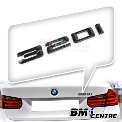 GLOSS BLACK BMW 320I REAR BOOT EMBLEM BADGE FOR 3 SERIES E90 E91 E92 E93 F30 F31