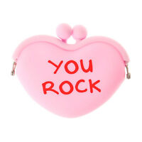 You Rock Coin Purse Candy Heart Pink Coin Purse Valentines Day Change Wallet
