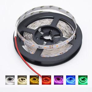 16Ft-5M-300-LED-Strip-Light-3528-SMD-RGB-Ribbon-Tape-Roll-Waterproof-DC-12V-Lamp