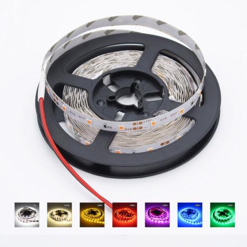 16Ft 5M 300 LED Strip Light 3528 SMD RGB Ribbon Tape Roll Waterproof IP65 DC 12V