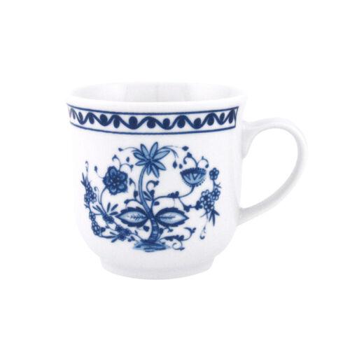 Porzellan weiß//blau 300 ml Triptis Romantika Zwiebelmuster Kaffeebecher 4er