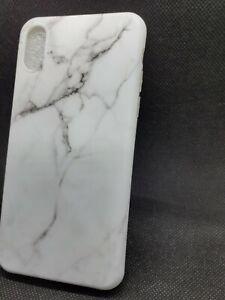 Coque Compatible  iPhone X10 Marbre Motif Silicone Housse de Protection en TPU