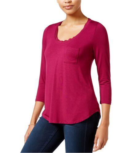 Medium purple maison Jules Womens Solid Pullover Blouse
