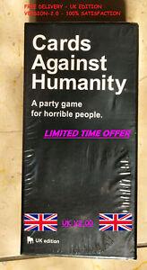 Carte-contro-l-039-umanita-UK-V2-0-ULTIMA-EDIZIONE-NUOVO-SIGILLATO-600-Carte-Gratis-UK