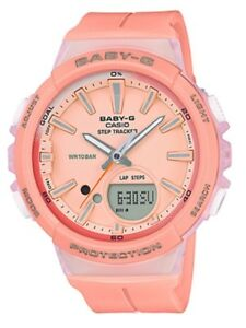 Casio-Baby-G-BGS100-4A-Runner-Anadigi-Step-Tracker-Peach-Watch-COD-PayPal