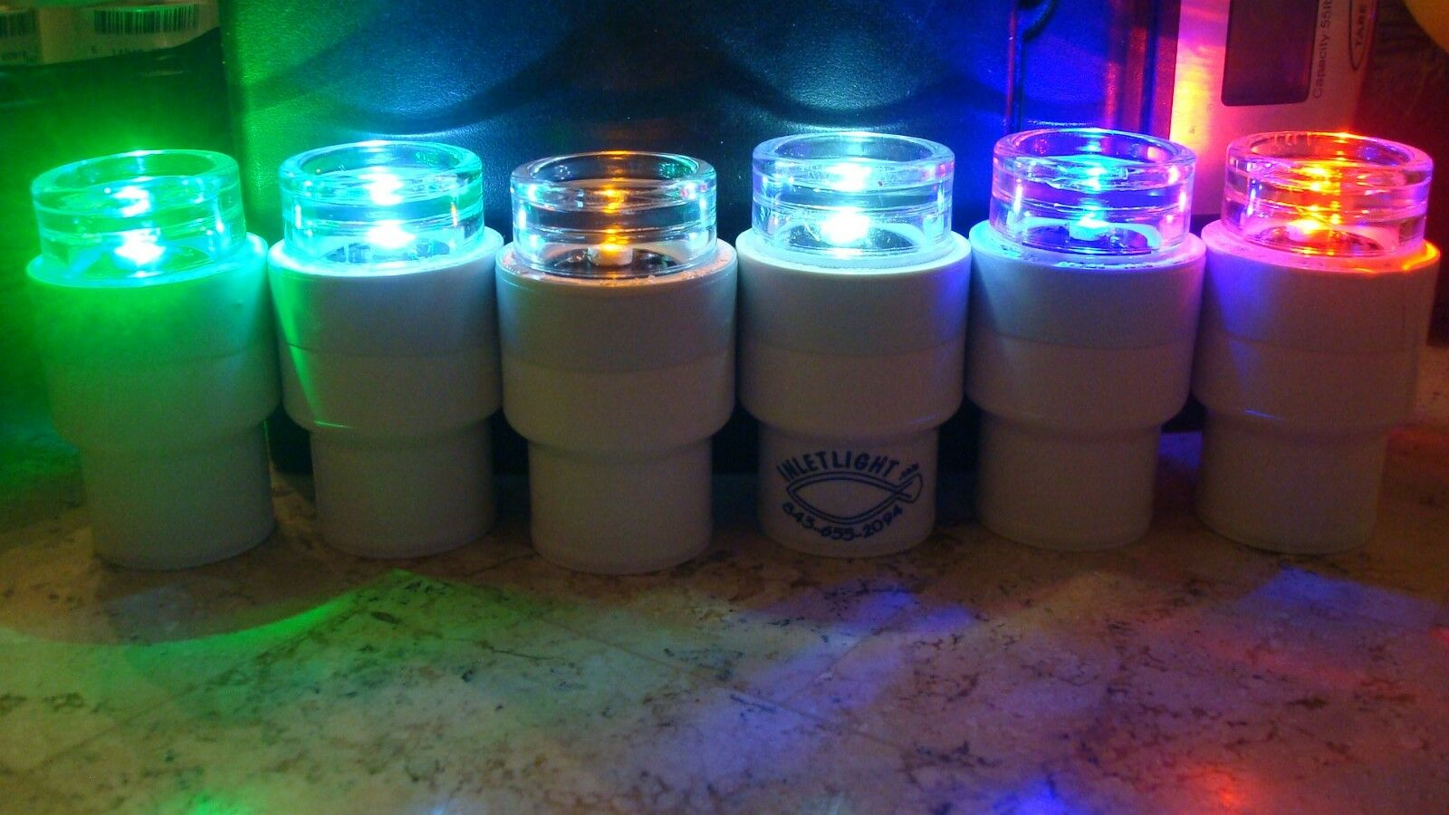 Catfish Noodle Jugs   LED Light Caps ONLY with TILT Switch lot of 6
