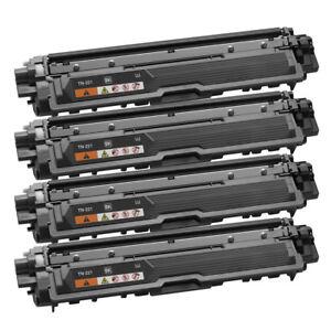 4pk-Toner-Cartridge-TN221BK-Black-For-Brother-HL-3140CW-HL-3170CDW-HL-3170CDW