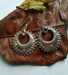 Natural Amethyst Earring Antique