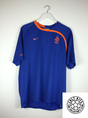 Retro HOLLAND 00s Training Shirt L Soccer Jersey Nike Football
