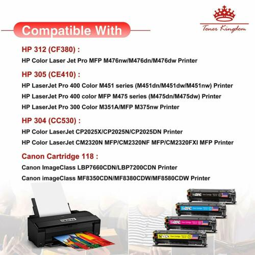 8PK CC530A 304A Toner Cartridge Black Color Set For HP LaserJet CP2025 CM2320 nf