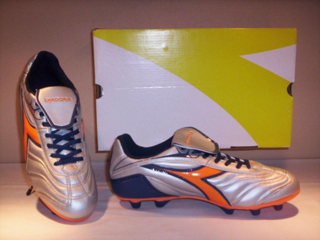 Zapatos de Fútbol Diadora Clásico Md PU Hombre zapatos Men Deportivos Plata 41 42