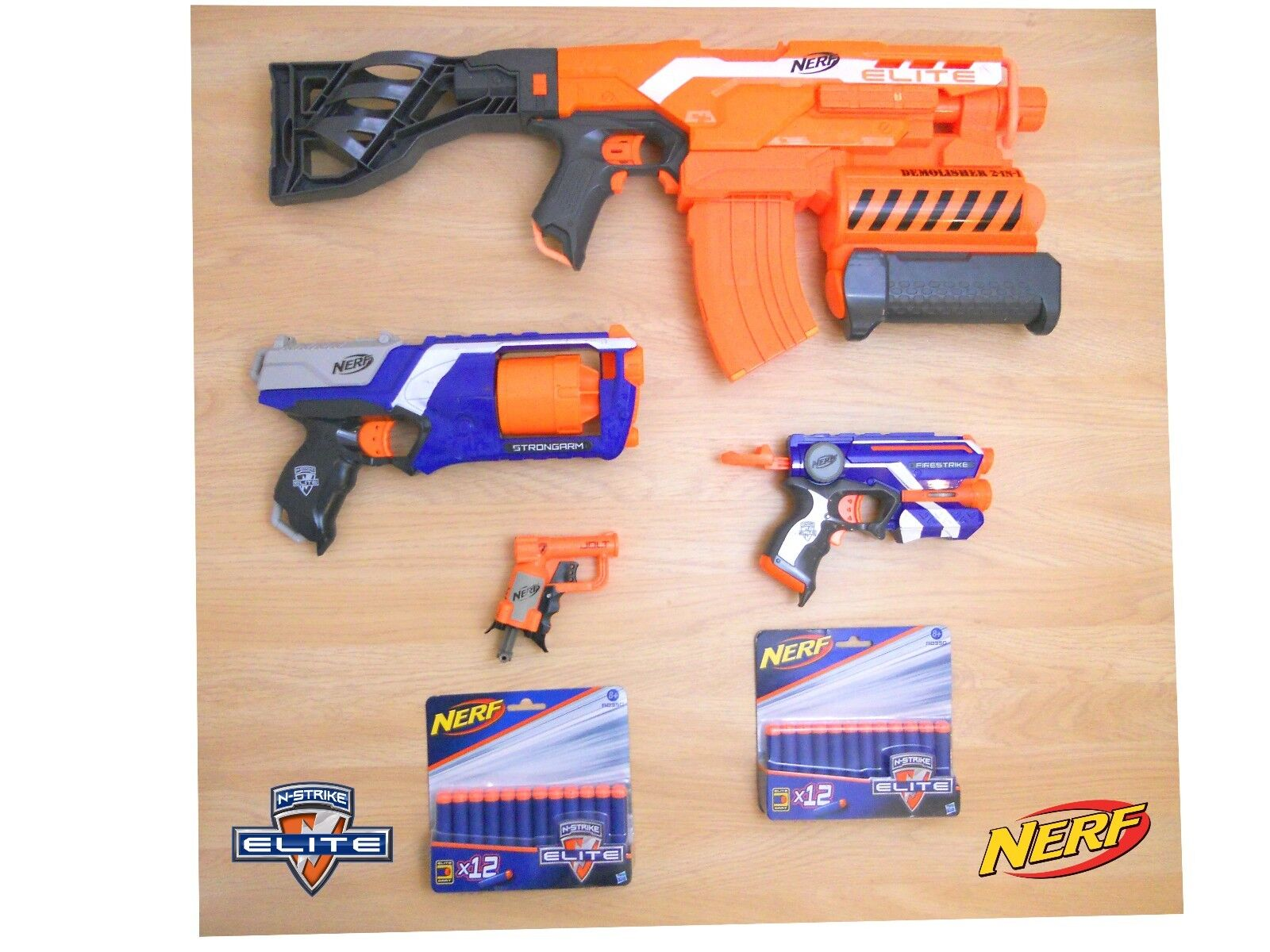 Pistolas Nerf Paquete demoledor Strongarm Firestrike Jolt & 24 N-strike Elite Dardos