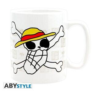 One-Piece-XL-Tasse-Skull-drawn-by-Luffy-NEU-amp-OVP