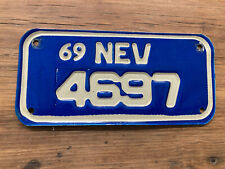 Nevada Motorcycle License Plate 1969