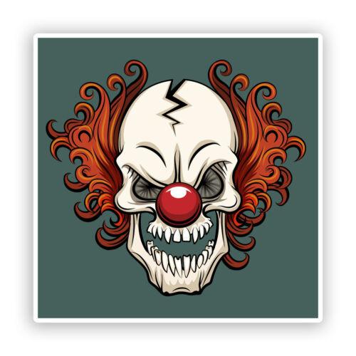 2 X Pegatinas De Vinilo De Payaso miedo Horror Halloween Espeluznante #7502