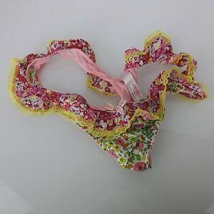 Liberty of London Ruffly Ruffle Thong Panties Floral M Medium 7