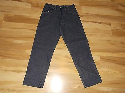 1950's Nuovo! Unknown Denim Scuro Jeans (foderato) Misura 30 Usato- Ottime Elegante E Grazioso