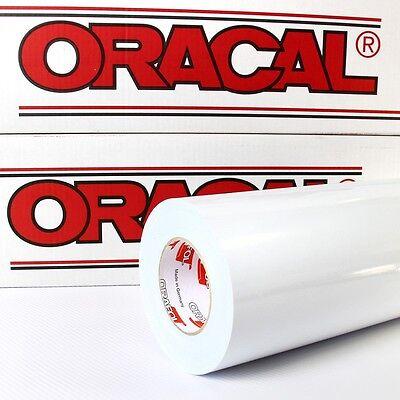 3,55€/m² Plotterfolie Weiß Oracal 621 glänzend 63x500cm FABRIKFRISCH ORAFOL 010