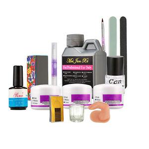 Pro-Nail-Art-Kit-120ml-Acrylic-Liquid-Powder-Buffer-File-Brush-Dryer-Tools-Set