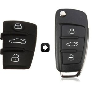 3-Bouton-Poussoir-Telecommande-Cle-Coque-Noir-Pour-Audi-A3-A4-A5-A6-A8-1996-2011