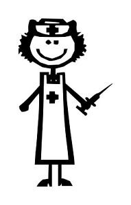 FEMALE-NURSE-Vinyl-Decal-Sticker-Candy-Striper-EMT-ER-Hospital-RN-LPN