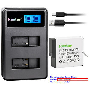 Kastar-Battery-LCD-Dual-Charger-for-Gopro6-GoPro-AHDBT-601-AHBBP-601-GoPro-HERO